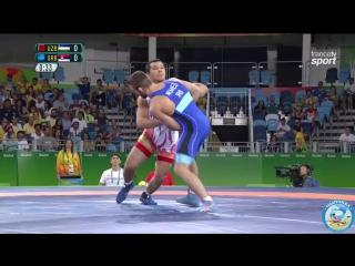 РИО-2016 греко-римская борьба 75 кг 1_8 финала Дильшод Турдиев (Узбекистан) - Виктор Немеш (Сербия)