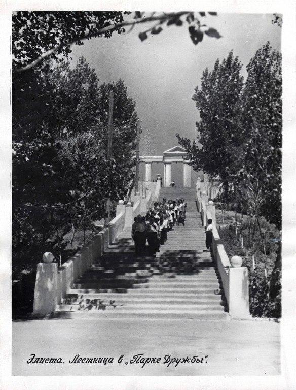 Лестница в парке «Дружба» 1959 год