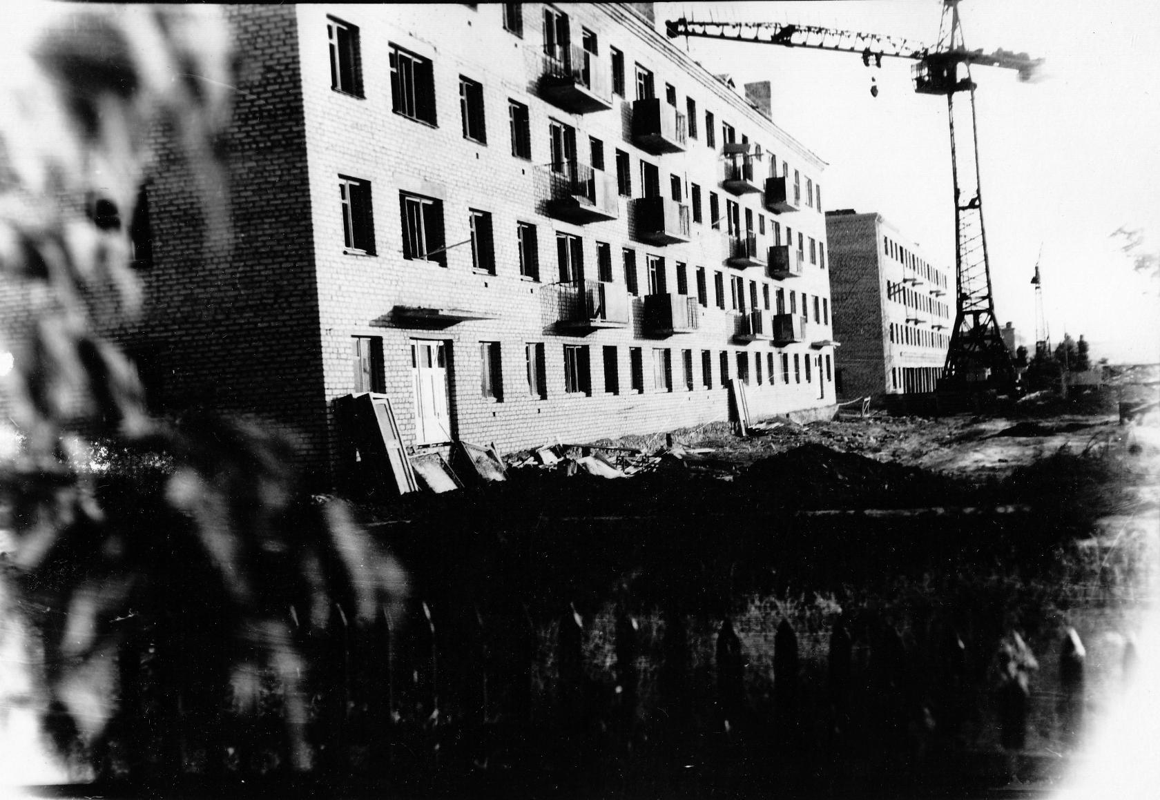 Дома №1 и №3 по улице Пионерской. 1967 год
