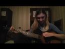 Little guitar cover. Rammstein - Amerika