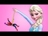 Frozen Elsa vs YO-YO SPIDERMAN