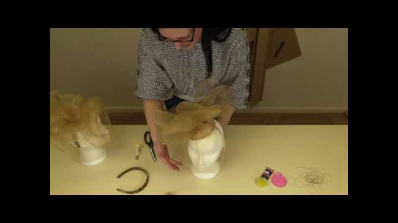 How to create a Crin fascinator - Isla kit instructions