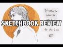 обзор скетчбука sketchbook review русалки, эльфы, учебные проекты