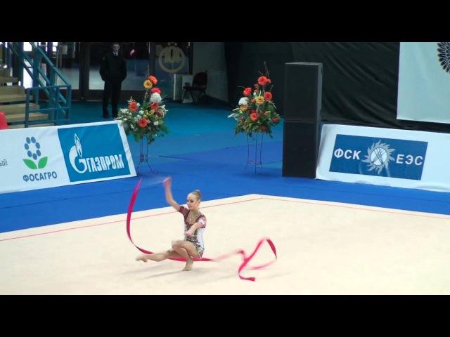 Дарья Колобова - лента (командное многоборье) Гран-при Москва 2011