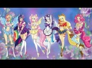 MY LITTLE PONY Equestria girls Transforms Mane 6 into Sailor Moon Style MLP Coloring Video