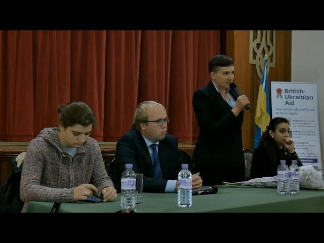 Н Савченко та М Берлінська у Лондоні Хто має сидіти за столом переговорів