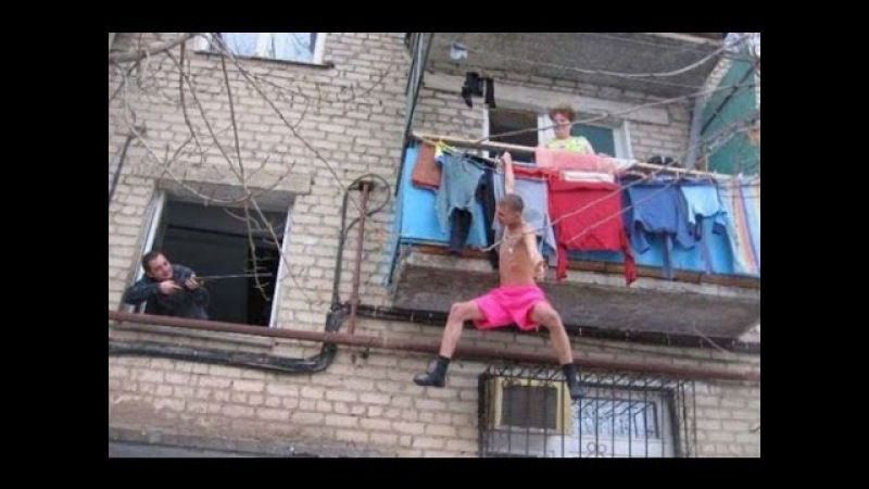Секс в балконе видео извиняюсь