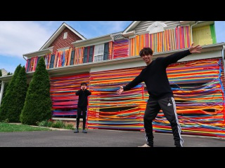 CRAZY DUCT TAPE PRANK ON HOUSE!