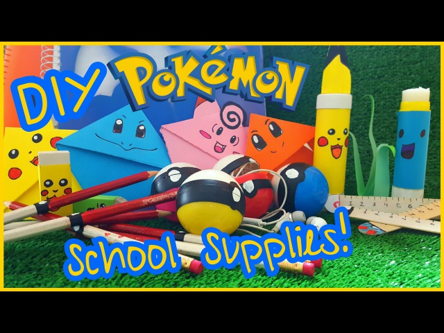 DIY Pokemon School Supplies!Bookmarks,Pencils,Rulers,Notebooks,Erasers More!(Fun Easy))COLLAB