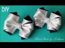 Бантики из лент ШКОЛЬНЫЕ КАНЗАШИ DIY Bows made of ribbon Kanzashi Laço de Cetim Curva da fita Baugen