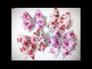Бантики из лент канзаши МК / hair clips ribbon kanzashi DIY