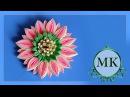 Заколка. Многослойный лепесток из ленты 2,5 см. Канзаши. МК. / DIY. Hair clip. Kanzashi. Flowers.