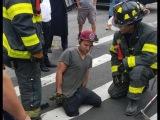 Man Crossing a Williamsburg Brooklyn Street Has Leg Swallowed by Sinkhole