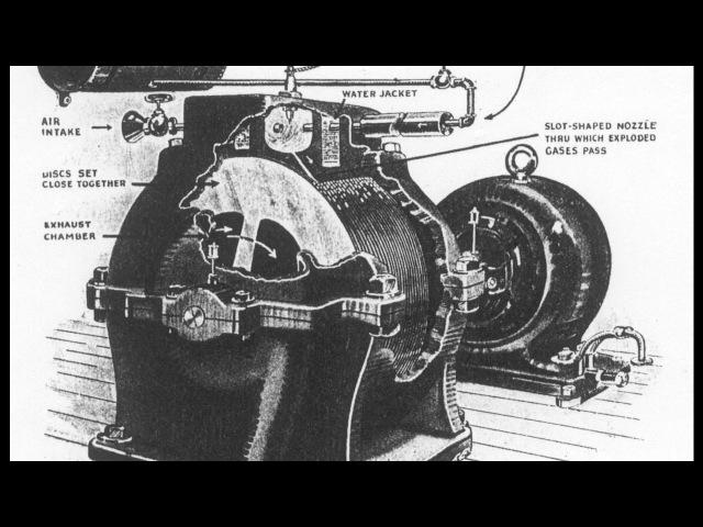 Уникальный роторный двигатель Н. Теслы - самый простой двигатель в мире! Tesla gas rotary engine.