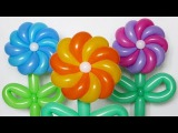 Крученая ромашка 10 лепестков Twisted daisy of balloons (Subtitles)