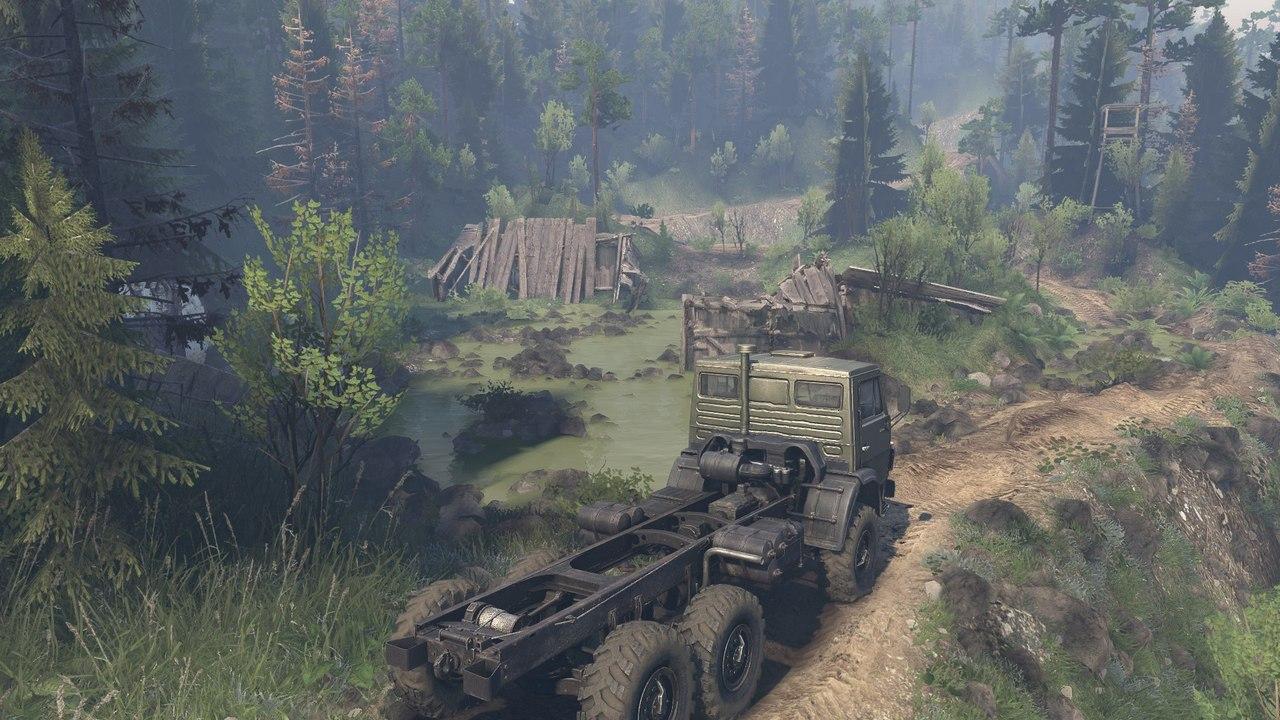 Карта «BlackWater Canyons» (измененная) для 03.03.16 для Spintires - Скриншот 1