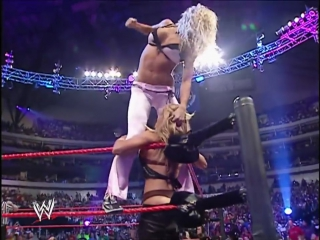 [WWE QTV]☆[Bra Panties Match]Torrie Wilson Candice Michelle Victoria vs Trish Stratus and Ashley//vk.com/wwe_restling_qtv