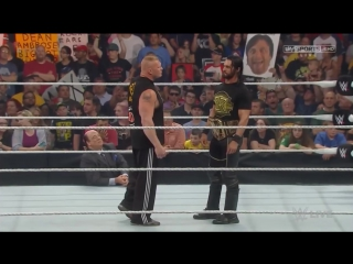 Brock Lesnar Returns to Face Seth Rollins - WWE Monday Night Raw 15-06-2015