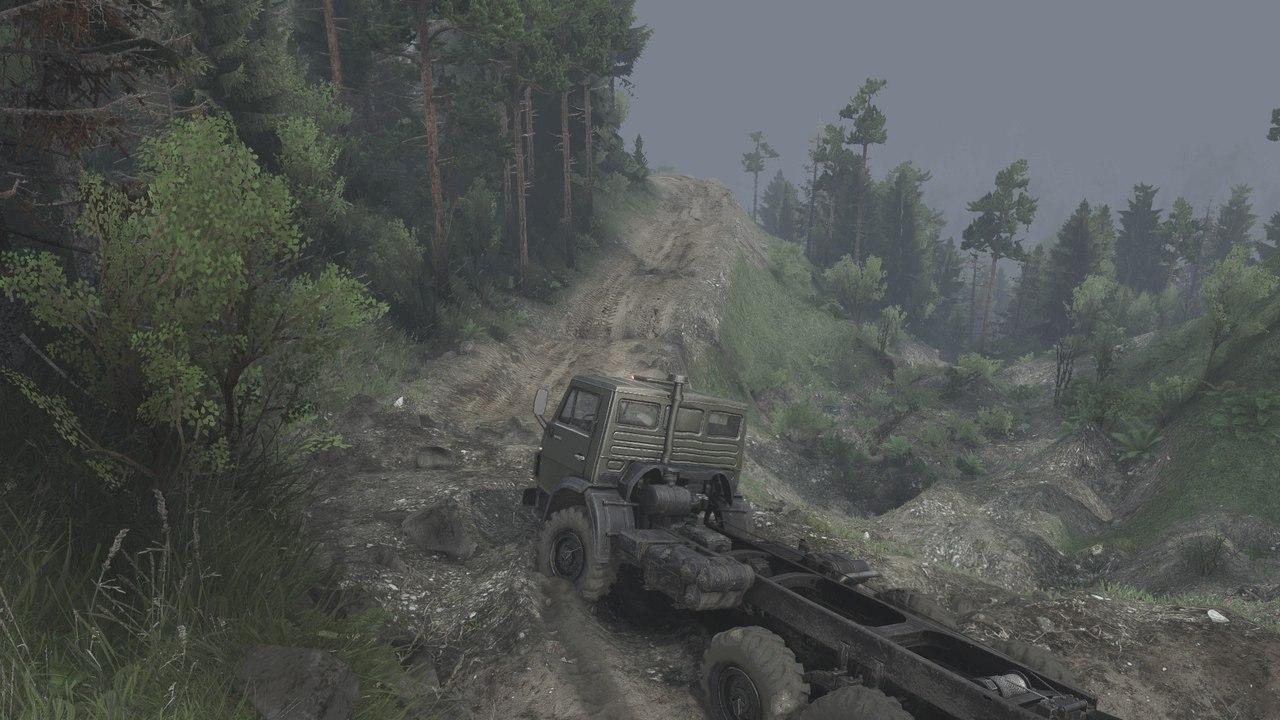Карта «BlackWater Canyons» (измененная) для 03.03.16 для Spintires - Скриншот 3