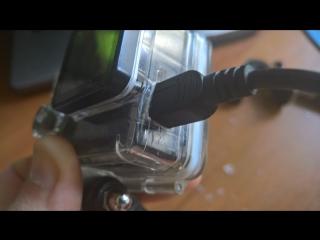Как проделать дырку под зарядку в аква боксе от экшен камеры (ac robin zed1)