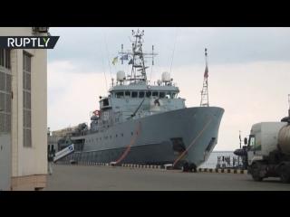 Четыре корабля НАТО зашли в одесский порт