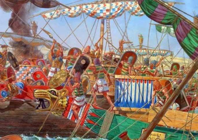 Бой древнего египтеского флота
