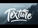 How to ADD TEXTURE to LETTERING - Photoshop Tutorial