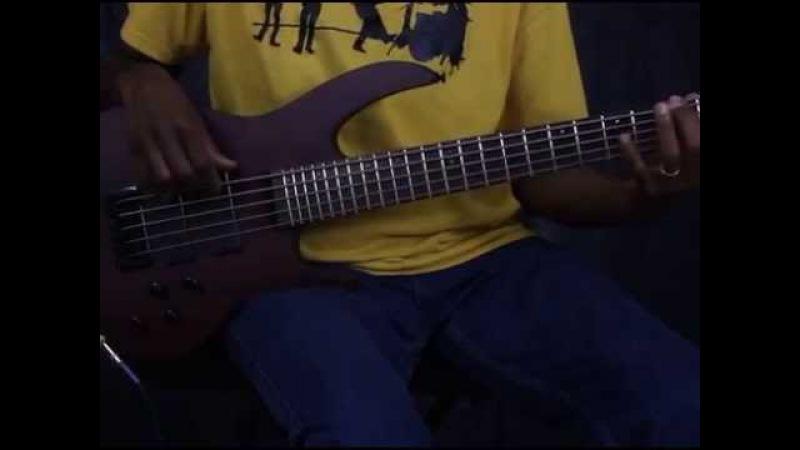 Brice HXB-405 3/4 Nat Bubinga Short Scale (30) 5 String Bass Guitar