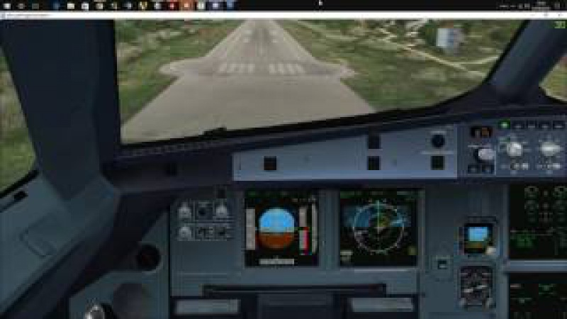 Fslabs A320-X landing at Skiathos visual appproach