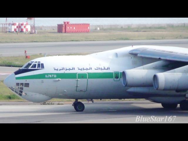 [Great Engine Sound] Algerian Air Force Ilyushin Il-76TD (7T-WIU) takeoff from KIXRJBB (Kansai) 24L