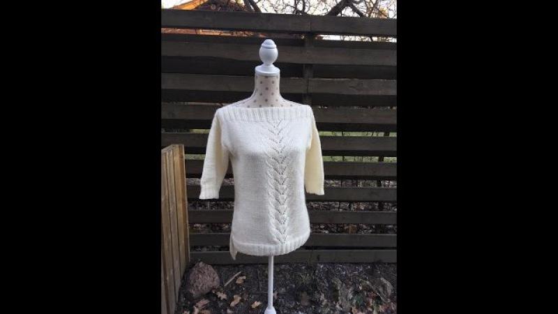 Как связать спицами простой свитер