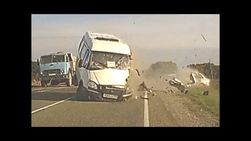 Tragic Frontal Accident in Russia - Head On Collision