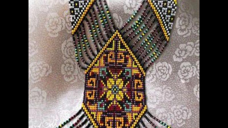 Бисерное ткачество- создаем красочный гердан-мастер Елена