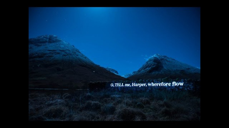 'On the Massacre of Glencoe' Projection Time-lapse - Sir Walter Scott