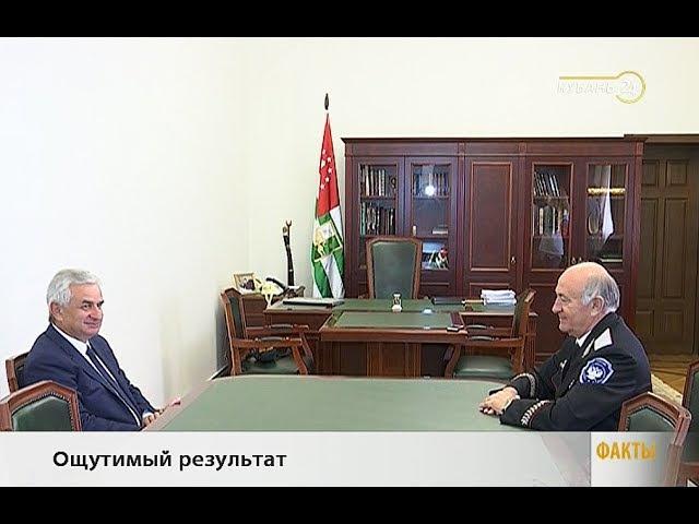 Атаман ККВ Н. Долуда встретился с президентом Абхазии Р. Хаджимбой