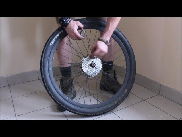 Замена кассеты велосипеда без хлыста и замена цепи