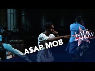 Выступление A$AP Rocky, Key! и A$AP Twelvyy с песней «Crazy Brazy» на шоу Стивена Кольбера'