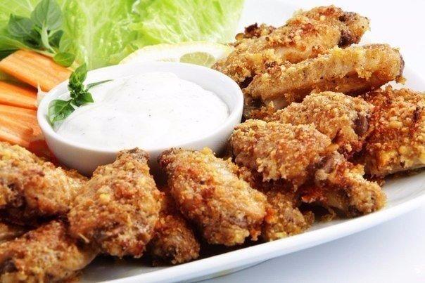 Куриные крылышки с сыром пармезан в духовке Ингредиенты: 3