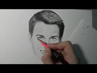 Том Круз/Tom Cruise (как нарисовать звезду)