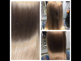 Окрашивание волос от стилиста Евгении