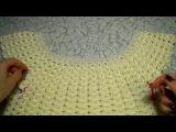 Платье летнее крючком ВОЗДУШНЫЕ ВЕЕРА(мастер-класс №3).Секреты.Dress crochet,bluse part 3. Eng...