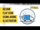 Design Flat Line Icon Menggunakan Adobe Illustrator Timelapse | Tutorial