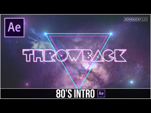 After Effects Tutorial: 80's Style Intro Basics