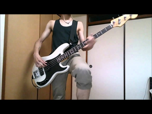 GATE OP Kishida Kyoudan the Akeboshi Rockets Sore Wa Akatsuki No You Ni bass cover「GATE ~それは暁のように~」full ベース弾いてみ 1