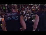 #My1 New Age Outlaws pushing the dumpster off the stage + Four angles (WWF Raw 2298)