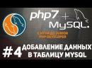 Уроки MySQL Как добавить данные в таблицу PDO mysqli