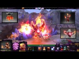 Dota 2 Lina Mix Set Disciple of the Wyrmwrought FlameArcanaInfused Dress