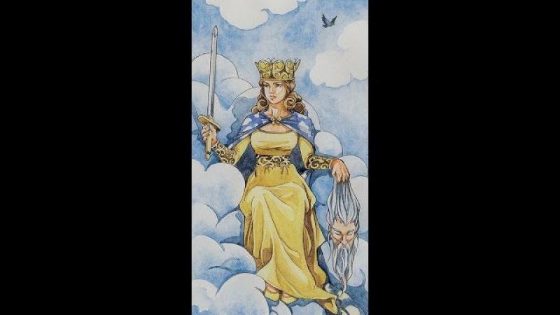 Королева мечей в различных колодах Таро под песню Непогода Аллы Пугачевой