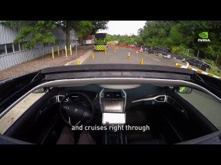NVIDIA более чем успешно протестировала искусственный интеллект для управления автомобилем. В отличие от обычного подхода к управлению автомобилями искусственным интеллектом, NVIDIA не использовала в программе каких–то явных методов обнаружения препятствий на дороге, загрузки карт или маршрутов, планирования пути движения. <br>Автомобиль от NVIDIA учится создавать все необходимые движения просто наблюдая за тем, как водят люди. <br>Из–за отсутствия привязок к разметке, машина может даже съезжать с дороги для объезда препятствий. В ИИ используется технология глубоких нейронных сетей. <br>Данный автомобиль также может генерировать свое собственное поведение на дороге. В клипе NVIDIA–мобиль, обученный на дорогах Калифорнии самостоятельно едет в Нью Джерси.<br>#интересно