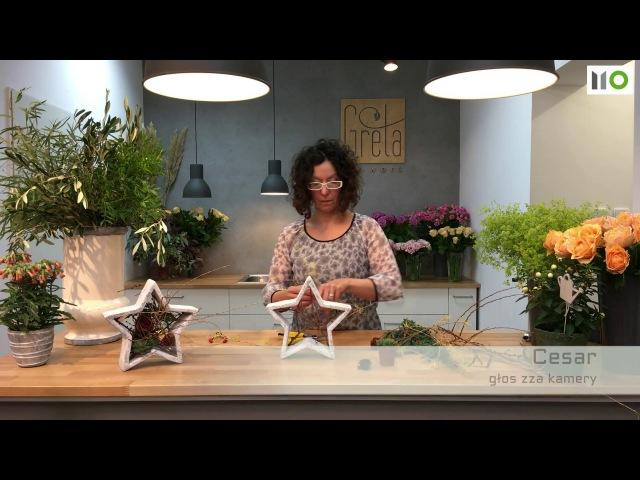 Sekunda dla Kwiatów - gwiazdki adwentowe (floristic diy advent stars) S04 E03